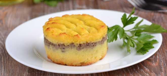 Запеканка из картофельного пюре с печенью