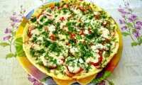 Быстрая пицца на сковороде за десят минут
