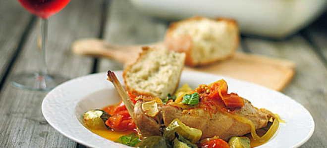 Рецепт кролика в духовке