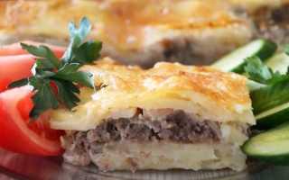 Запеканка с фаршем и сыром в духовке