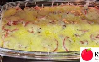 Нежнейшая запеканка из курицы и картофеля