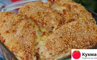 Горячее блюдо из куриного филе и картофеля