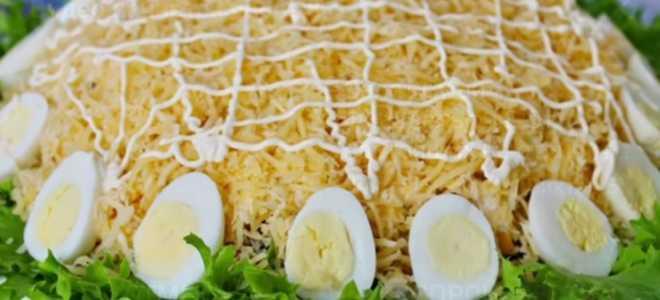 Салат «Богатый Маркиз». Слоеный салат на праздник.