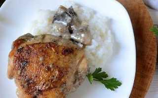Курица с грибами в сливочно-горчичном соусе в духовке