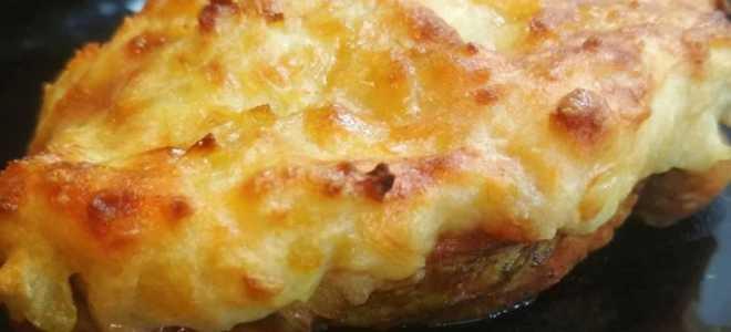 Индейка с картофелем под сыром