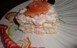 Рыбный торт Наполеон