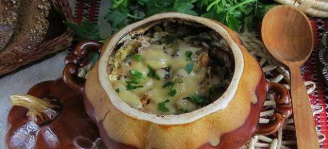 Мясо в горшочках с картошкой запеченное в духовке