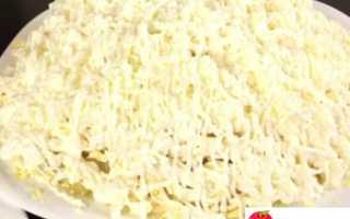 Салат с плавленым сыром и курицей «Невеста»