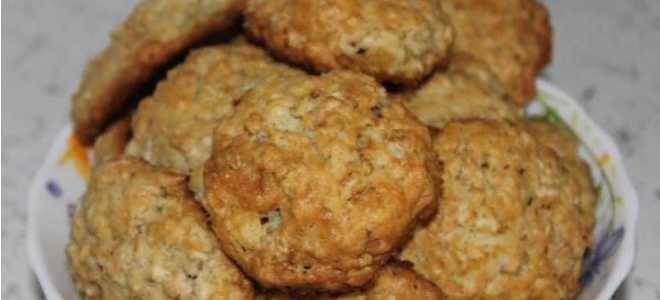 Вкусное печенья из овсяных хлопьев