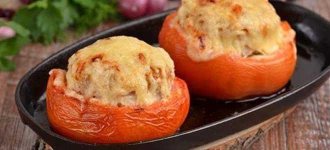 Фаршированные помидоры в духовке.