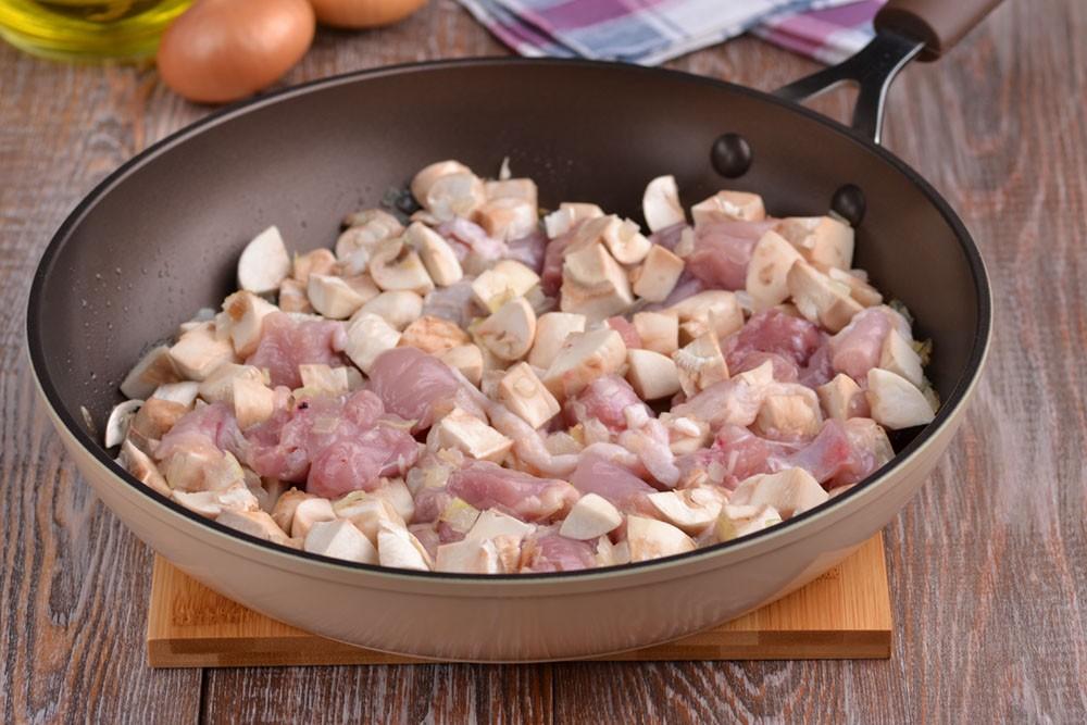 Запеканка с курицей - из куриного филе и фарша